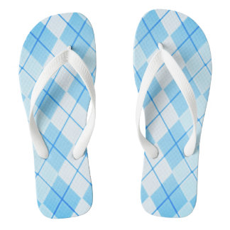 Sky-Blue-Argyle-Unisex(C)Multi-Styles Thongs