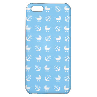 Sky blue baby boy nautical pattern cover for iPhone 5C