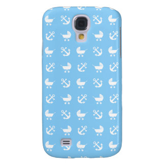 Sky blue baby boy nautical pattern galaxy s4 case