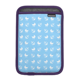 Sky blue baby boy nautical pattern iPad mini sleeve