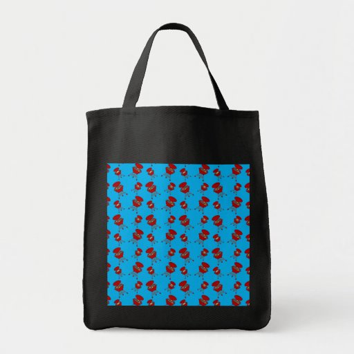 sky blue barbeque pattern bags