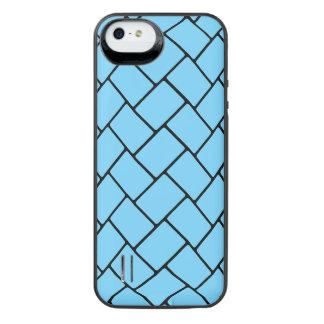 Sky Blue Basket Weave 2 iPhone SE/5/5s Battery Case