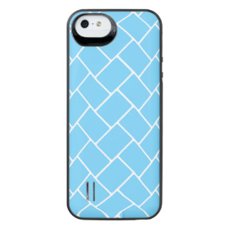 Sky Blue Basket Weave iPhone SE/5/5s Battery Case