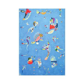 Sky Blue by Wassily Kandinsky Canvas Print