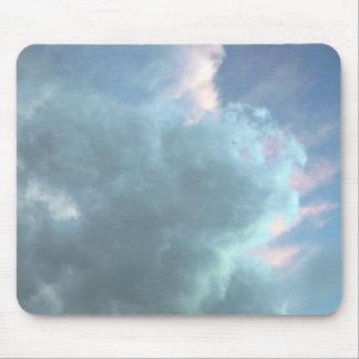 Sky Blue Clouds Mouse Pad