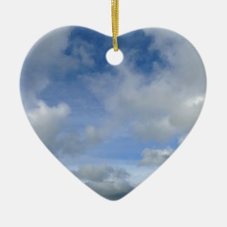 sky. Blue cloudy sky Ceramic Ornament