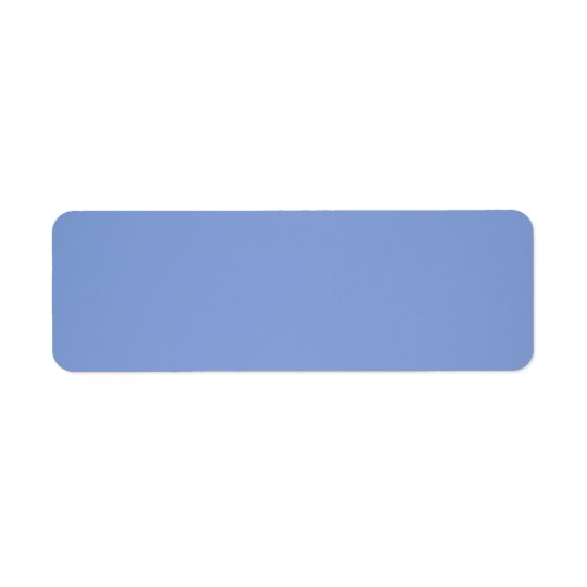 Sky Blue Colour Return Address Label