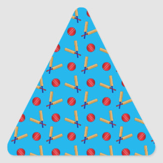 Sky blue cricket pattern triangle sticker