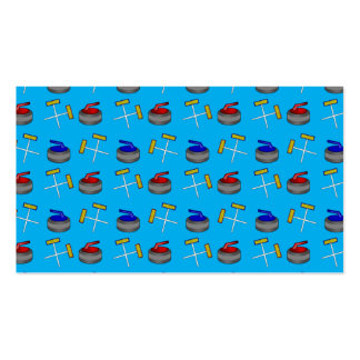 sky blue curling pattern business card template