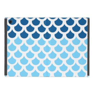 Sky Blue/ Deep Ocean Fish Scale 2 Covers For iPad Mini