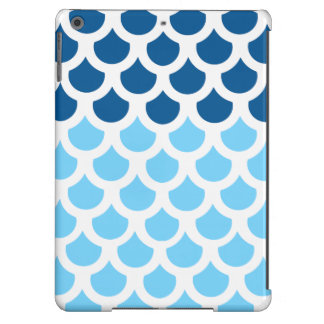 Sky Blue/ Deep Ocean Fish Scale 2 iPad Air Covers