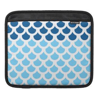 Sky Blue/ Deep Ocean Fish Scale 2 iPad Sleeves
