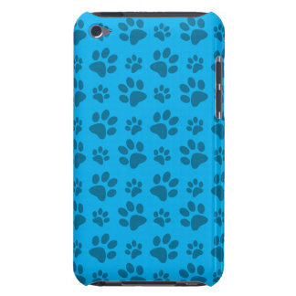 Sky blue dog paw print iPod touch covers