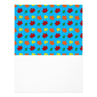 sky blue fall leaves personalized flyer