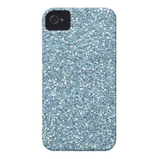 Sky Blue Faux Glitter iPhone 4 Cases