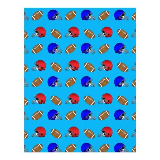 Sky blue footballs helmets pattern full color flyer