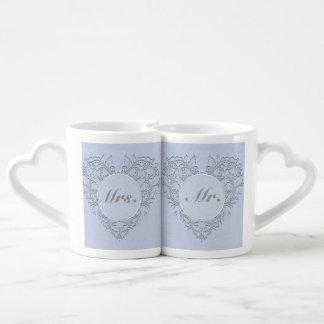 Sky Blue HeartyChic Couple Mugs