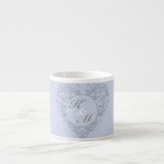 Sky Blue HeartyChic Espresso Mug