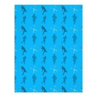 Sky blue lacrosse silhouettes personalized flyer