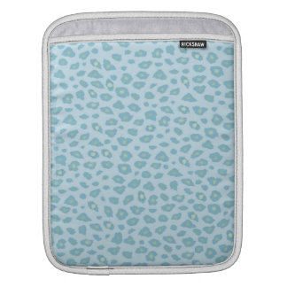 Sky Blue Leopard Print iPad Sleeves