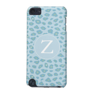 Sky Blue Leopard Print Monogram iPod Touch (5th Generation) Case