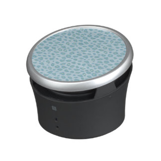 Sky Blue Leopard Print Bluetooth Speaker