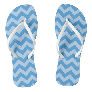 Sky Blue Moroccan Moods Chevrons Thongs