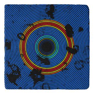 Sky Blue Multicolored Burner Pattern Trivet