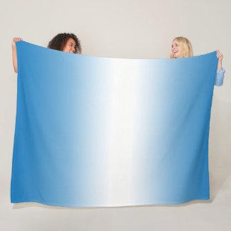 Sky Blue Ombre Gradient Color Fleece Blanket
