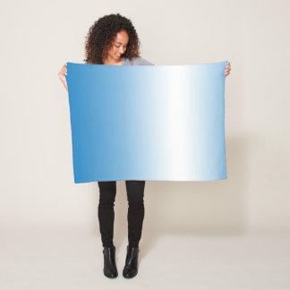 Sky Blue Ombre Small Fleece Blanket