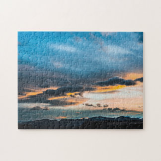 Sky-Blue Orange Sunset Puzzle