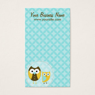 Sky Blue Owls Business Cards