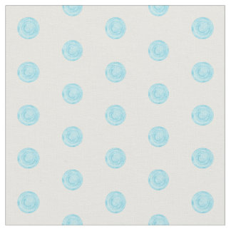 Sky blue painted dots fabric