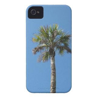 Sky blue palm tree iPhone 4 case