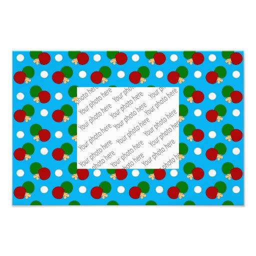 Sky blue ping pong pattern photo art