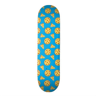Sky blue pizza pattern skateboard decks
