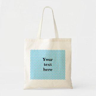 Sky blue polka dots pattern tote bag