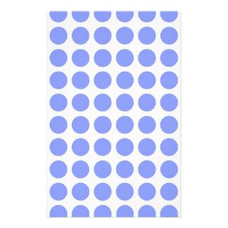 Sky Blue Polka Dots Personalized Stationery