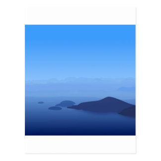 Sky Blue Post Card