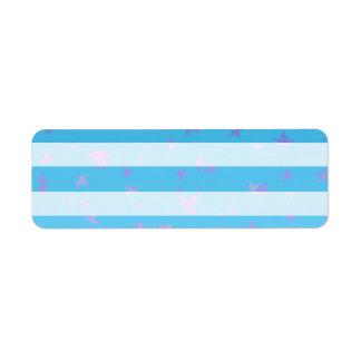 Sky blue print Return Address Labels