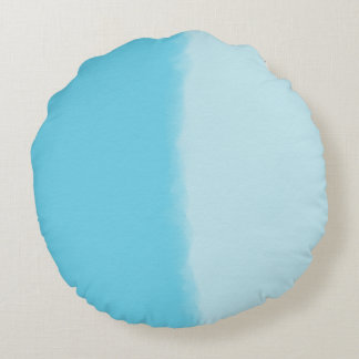 Sky Blue Shaded Decorative Round Cushion