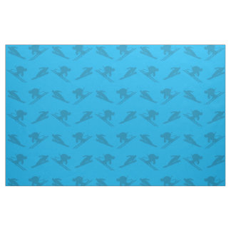 Sky blue ski pattern fabric