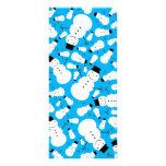 Sky blue snowmen rack cards