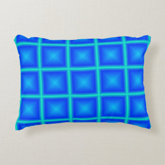 Sky Blue Star Poly Geometric Custom Decorative Cushion