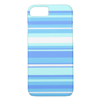 Sky blue stripes iPhone 8/7 case