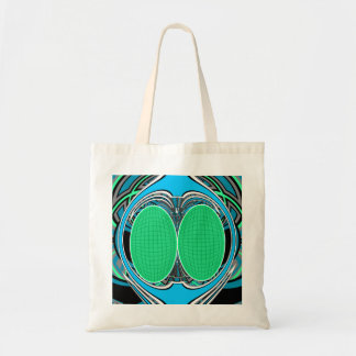 Sky blue superfly design tote bags