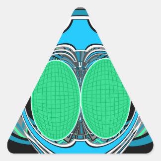 Sky blue superfly design stickers