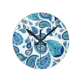 Sky Blue Teardrops Clock