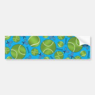 Sky blue tennis balls rackets and nets bumper stickers