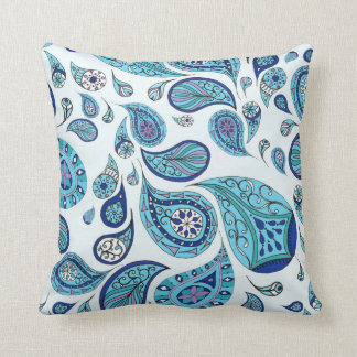 Sky Blue Tones Teardrop Cushion